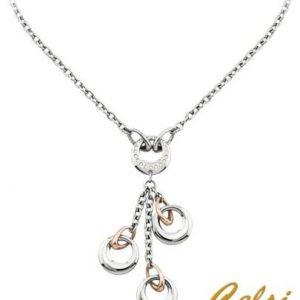 2 JEWELS Girocollo BELEN acciaio / acciaio rose' e cristalli PROMISE cod. 251247