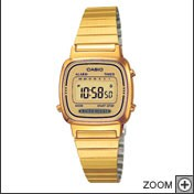 CASIO ACCIAIO COLLECTION DONNA COLOR ORO WATCH DIGITAL  LA670WEGA-9EF