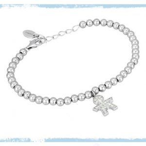 2 JEWELS BRACCIALE donna argento 925 + zirconi bimba serie MABINA 533090