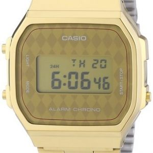 CASIO COLLECTION OROLOGIO UNISEX ORO DIGITALE CRONOMETRO cod.A168WG-9BWEF