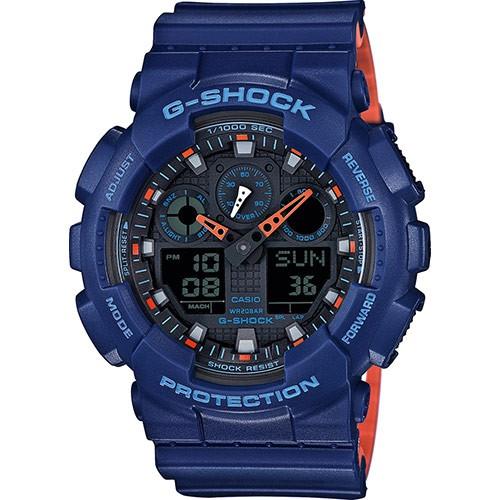 CASIO G-SHOCK: Orologio CRONO, Led, ANTIURTO, ANTIMAGNETICO, TIMER, GA-100L-2AER