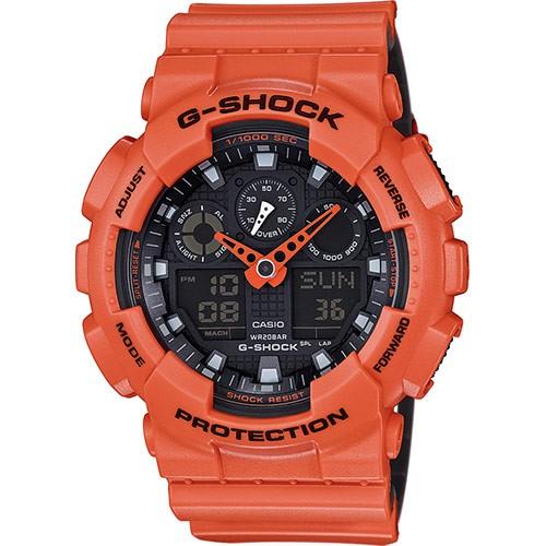 CASIO G-SHOCK: Orologio CRONO, Led, ANTIURTO, ANTIMAGNETICO, TIMER, GA-100L-4AER