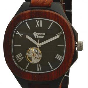 GREEN TIME BY ZZERO: OROLOGIO uomo AUTOMATICO in legno SANDALO, ZW073B