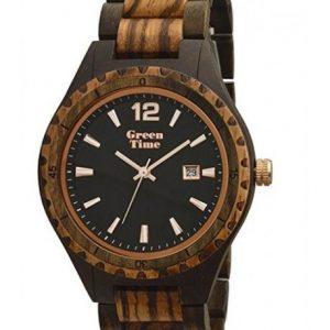 GREEN TIME WOOD: Orologio donna solo tempo in legno sandalo e noce, ZW074C