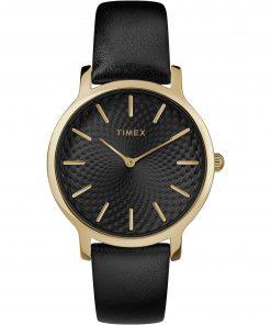 TIMEX: Orologio donna solo tempo della collezione SKYLINE con cinturino in pelle nero, TW2R36400