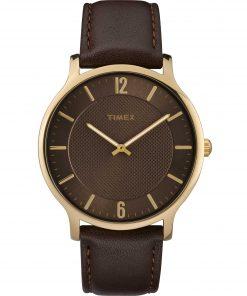 TIMEX: Orologio uomo solo tempo della collezione SKYLINE con cinturino in pelle, TW2R49800