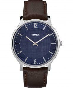 TIMEX: Orologio uomo solo tempo della collezione SKYLINE con cintururino in pelle, TW2R49900