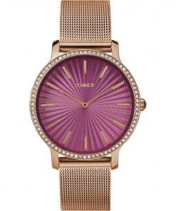 TIMEX: Orologio donna solo tempo della collezione STARLIGHT con cinturino oro rosa, TW2R50500