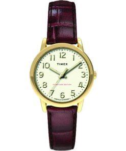 TIMEX: Orologio donna solo tempo della collezione EASY READER con cinturino in pelle, TW2R65400