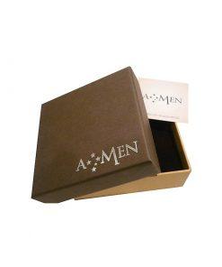 A-MEN: Orecchini a lobo CUORE in argento 925, ORHB