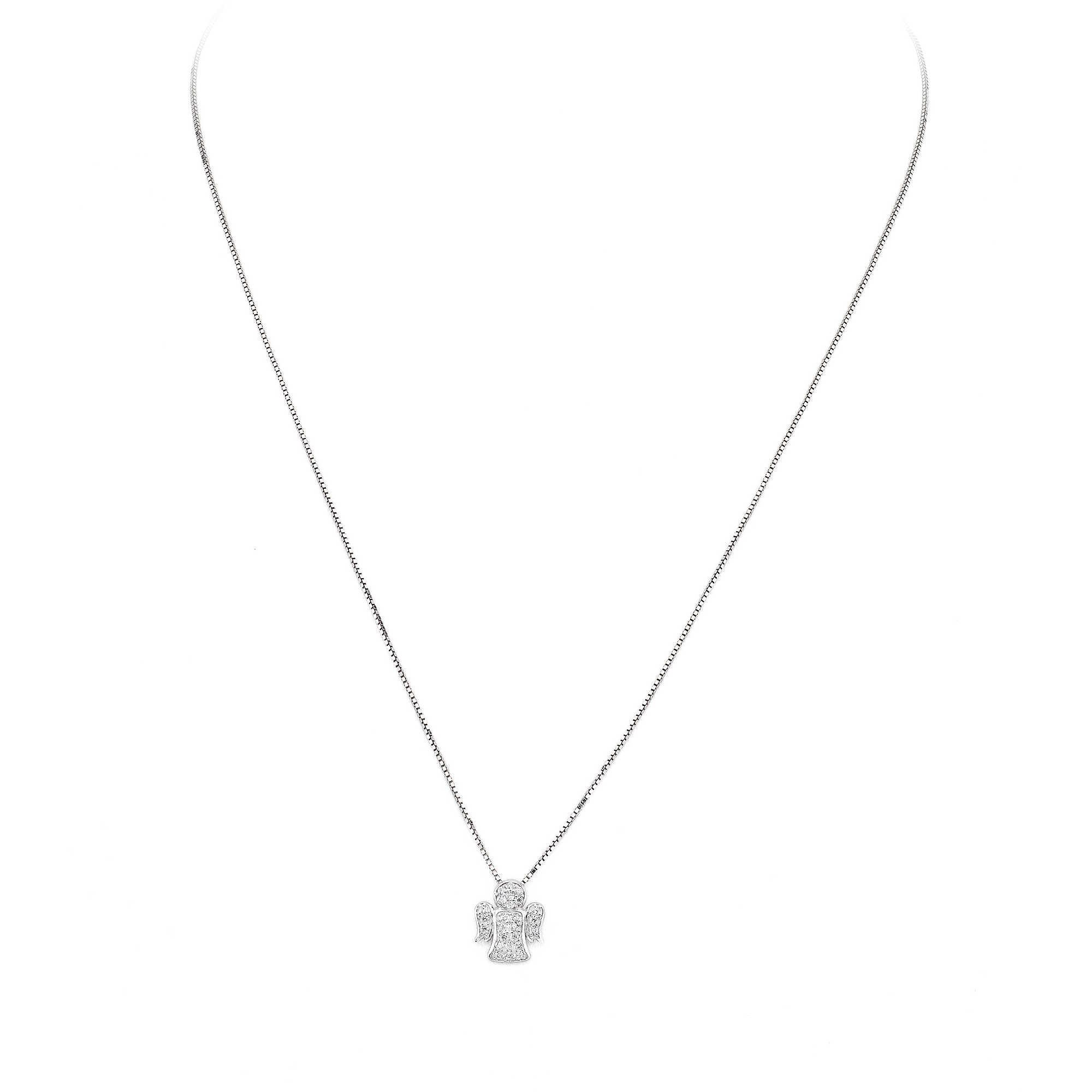 A-MEN ANGELI: Collana donna in argento 925 ANGIOLETTO con zirconi, CLPA