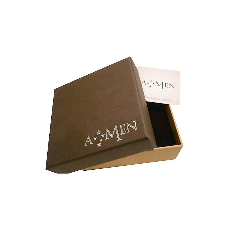 A-MEN ANGELI: Orecchini a lobo donna in argento 925 ANGIOLETTO con zirconi, EA