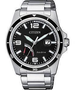 CITIZEN MARINE: Orologio uomo solo tempo con movimento ECO DRIVE in acciaio, AW7035-88E