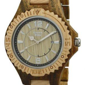 GREEN TIME BY ZZERO: Orologio uomo solo tempo in legno ACERO e SANDALO, ZW057E