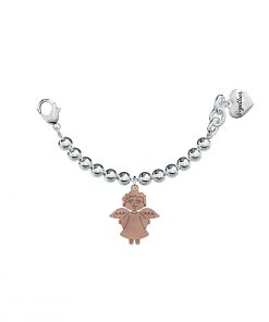 2jewels: Bracciale TOGETHER GOOD LUCK angelo in acciaio e pd rose gold elemento single, 131062